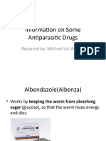Information on Some Antiparasitic Drugs