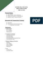 Course Outlines Form 2 Term 1