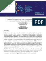 LA INNOVACIÓN TECNOLOGICA COMO FACTOR DETERMINANTE EN LA DIRECCION DE PROYECTOS DE TELECOMUNICACIONES.