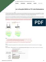 Como Configurar a Função WDS No TP-Link Roteadores Wireless - TP-Link