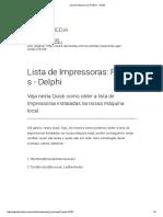 Lista de Impressoras_ Printers - Delphi