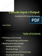 csharp input output