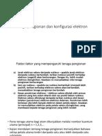 Tenaga Pengionan Dan Konfigurasi Elektron (1)