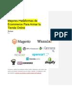 Mejores Plataformas de Ecommerce Para Armar Tu Tienda Online