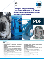 Design Engineering Installation and O M of Rotating Equipments for Process Industry
