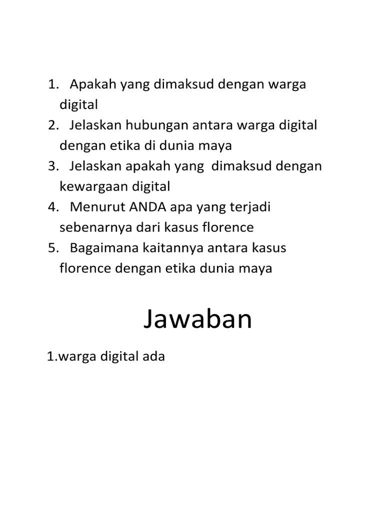 Apakah Yang Dimaksud Dengan Warga Digital