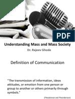 Unit1 Understanding Mass and Mass Society