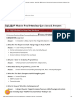 Most SAP ABAP Module Pool Interview Questions and Answers