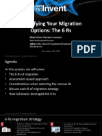 6Rs of Migration AWS ReInvent