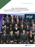 2013 Global Performance Management Survey Report