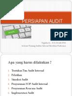2. Persiapan Audit Internal
