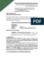 Modelo de Demanda Judicial de Sucesión Intestada -Autor José María Pacori Cari