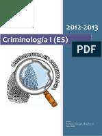 Apuntes Criminologia I