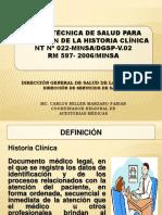 Norma Técnica Gestión de La Historia Clínica