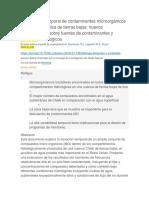 Variabilidad Temporal de Contaminantes Microorgánicos en Cuencas de Tiza de Tierras Bajas