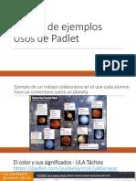 Galería de Ejemplos_usos de Padlet