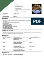 Resume BennyCV Format4