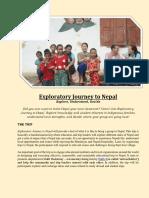 Handbook Exploratory Journey to Nepal