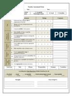 teacher assessment form