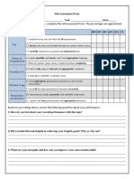 self-assessment form