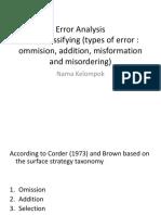 Error Analysis CLEA