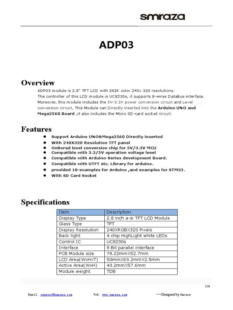 Usermanual Adp03 Arduino Sd Card Wiring