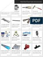 Metal Roof Panel Tools and Accessories