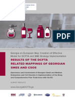 RESULTS OF THE DCFTA RELATED MAPPINGS OF GEORGIAN SMES AND CSOS