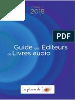 Guide 2018 des éditeurs de livres audio