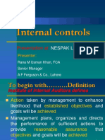 Nternal Control Systems