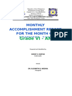Accmplishment Report Grade Six Am December