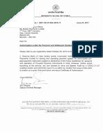 RBI Authorization Letter 2011