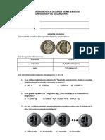 Prueba Diagnóstica Del Área de Matemática_ 2