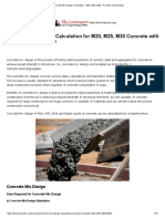 Concrete Mix Design Calculation - M20, M25, M30 - Procedure & Example