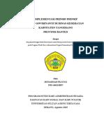 Implementasi Prinsip Prinsi Good Governance