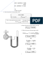 Manometer Problems Worksheet - Answers