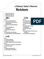 Ks3 Science20dictionary Worksheets