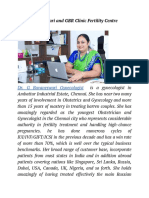 Dr. G Buvaneswari and GBR Clinic Fertility Centre