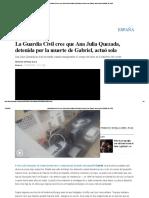 La Guardia Civil Cree Que Ana Julia Quezada, Detenida Por La Muerte de Gabriel, Actuó Sola _ España _ EL PAÍS