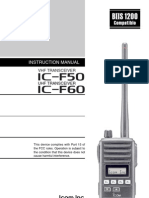 Icom IC-F50_F60 Instruction Manual