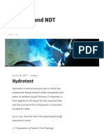 Hydrotest | Welding and NDT
