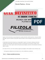 Guia Completo – Filizola Platina – Erros Comuns #1 _ Dr. Balança