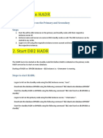 Stop-Start DB2 on HADR