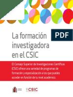 La Formaci%c3%83%c2%b3n Investigadora en El CSIC
