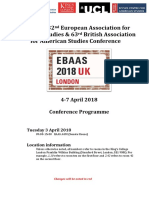 EBAAS 2018 Conference Programme 09-03-18
