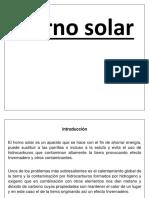 Horno Solar QUINTO A
