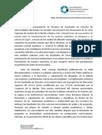 DECLARACIÓN DEL CPDFD SOBRE DOCUMENTO DE LA CSJN