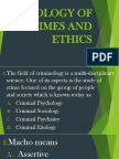 Sociology of Crimes and Ethics-ppt