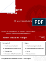Tema 4. Modelo de Datos Logicos