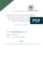 Publicidad y Genero Propuesta Diseno y Aplicacion de Un Modelo de Analisis de Las Metaforas de Genero en La Publicidad Impresa en Lengua Inglesa 0